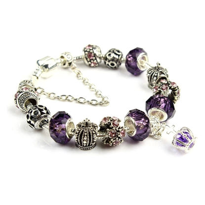 Image de Retro Crystal Crown Beaded Bracelet