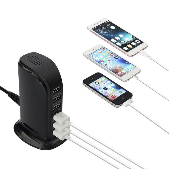 Immagine di 6-Port USB Charging Station for Smart Phones and Tablets