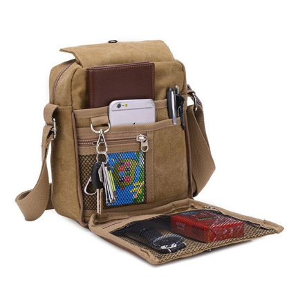 Bild von Multi-functional Outdoor Canvas Traveling Bag