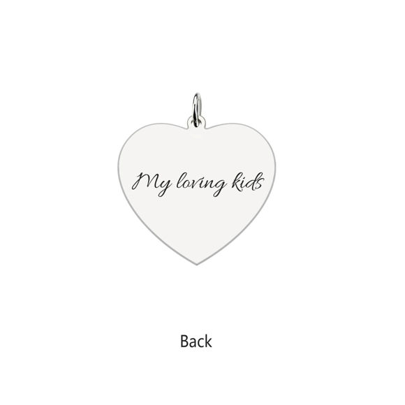 Picture of Engraved Heart Photo Pendant Necklace In 925 Sterling Silver
