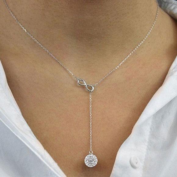 Bild von Infinity Y Necklace Made with Swarovski Elements