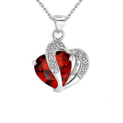 Image de Heart-shaped Zircon Crystal Necklace