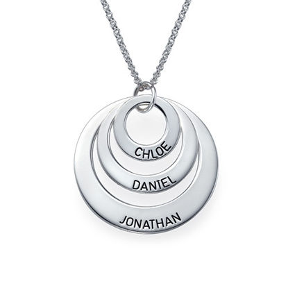 Imagen de Personalized Disc Name Necklace in 925 Sterling Silver