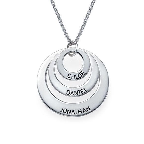 Immagine di Collana con nome disco personalizzato in argento sterling 925