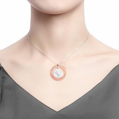 Immagine di Collana con pendente a forma di cuore all'interno in argento sterling 925 personalizzato