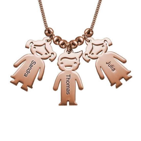 Imagen de Silver Mother's Necklace with Children Charms