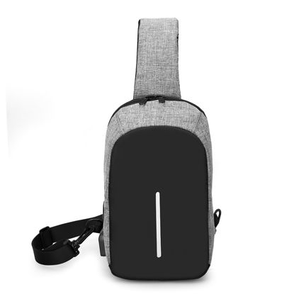 Imagen de Multi-functional Anti-Theft Cross Body Backpack with USB Charging Port