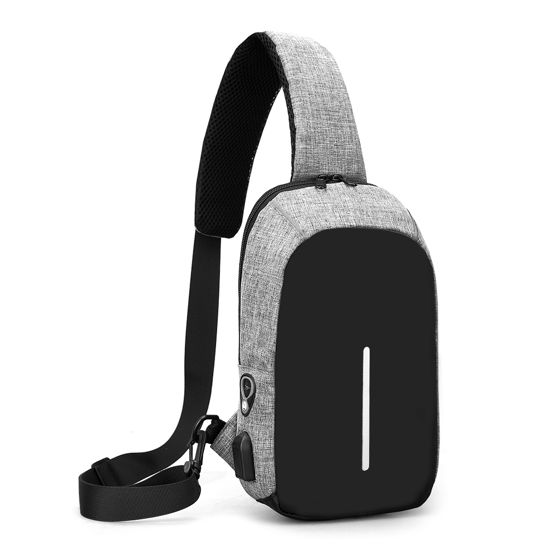Imagen de Multi-functional Anti-Theft Cross Body Backpack with USB Charging Port