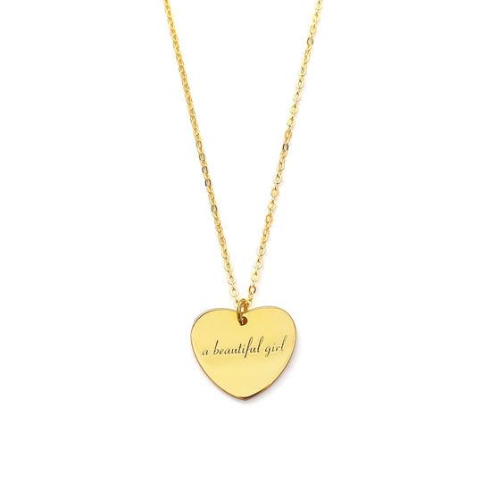 Immagine di Collana con nome ciondolo cuore personalizzato in argento sterling 925