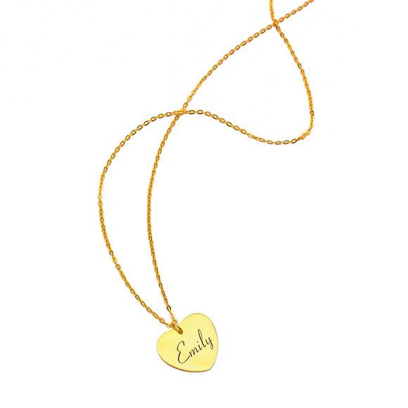 Imagen de Collar con nombre en forma de corazón personalizado en plata de ley 925