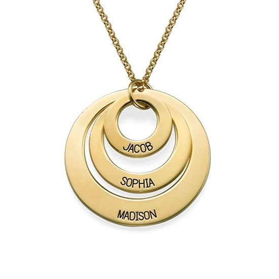 Immagine di Personalized Three Disc Name Necklace in 925 Sterling Silver