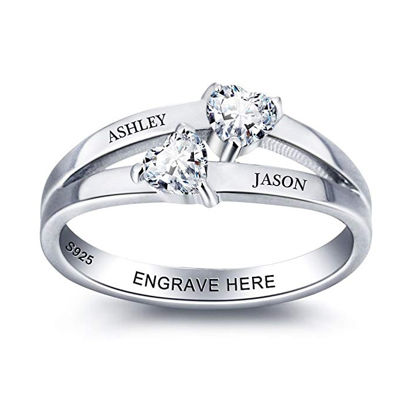 Picture of Personalized Women Engraving Name Ring in 925 Sterling Silver
