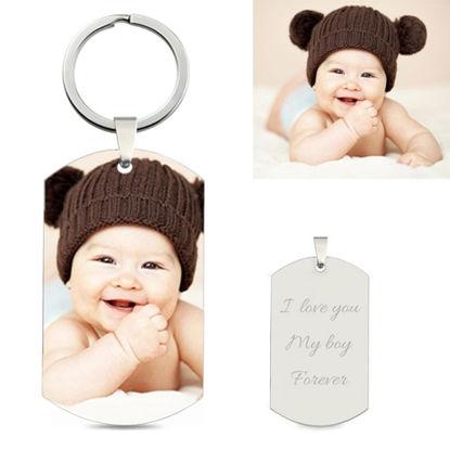 Imagen de Llavero personalizado para fotos de acero inoxidable para bebés