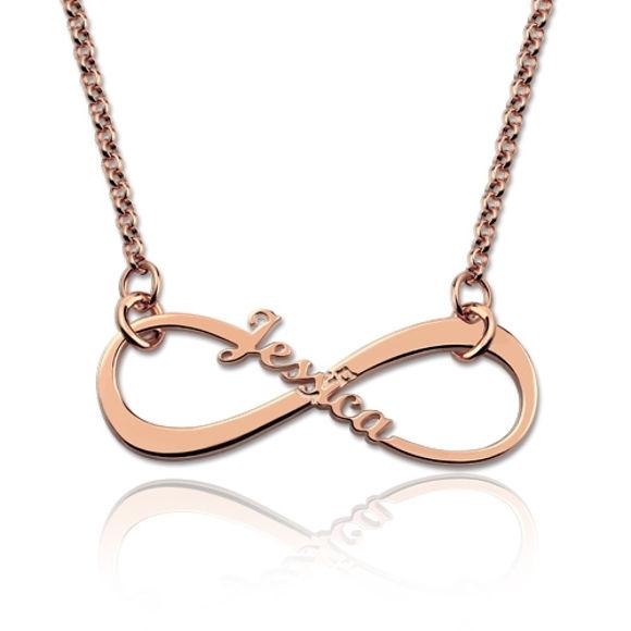 Bild von Personalisierte Single Name Infinity Halskette