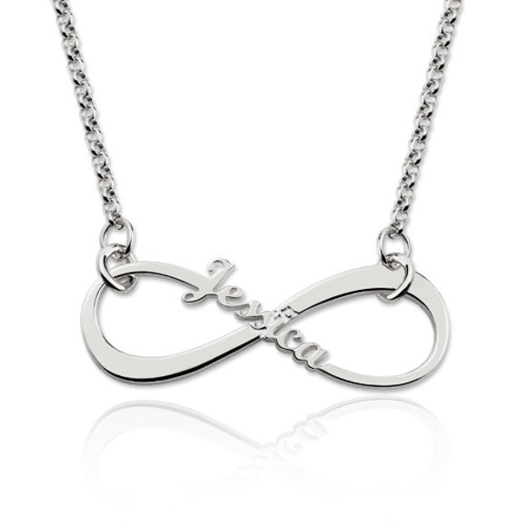 Picture of Personalized Single Name Infinity Necklace