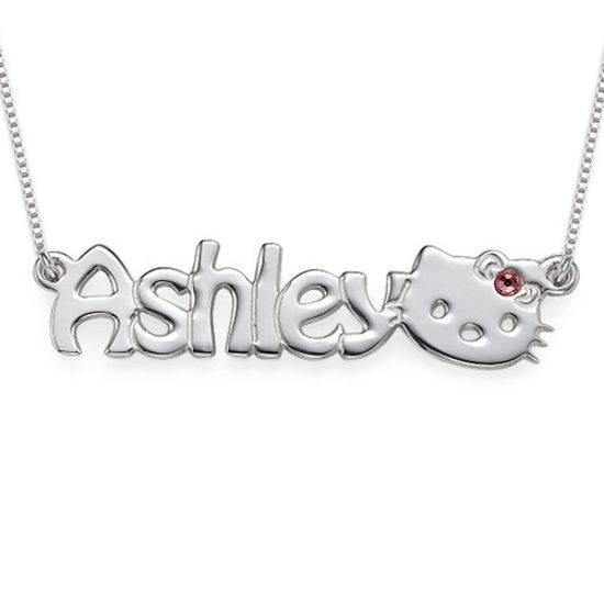 Imagen de Cute Kitten Name Necklace for Girls