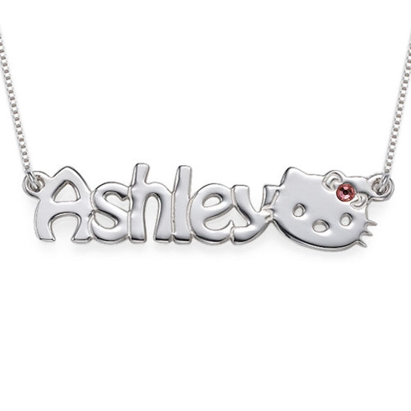 Picture of Cute Kitten Name Necklace for Girls