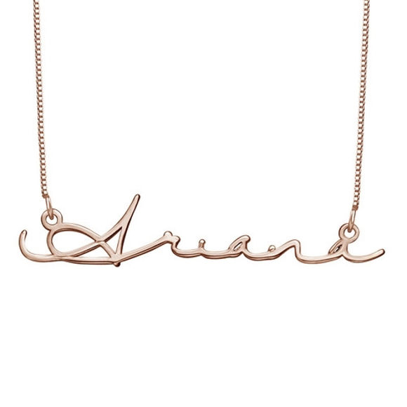 Picture of Signature Personalized Script Necklace