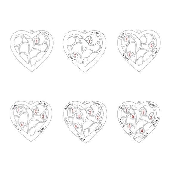 Imagen de Collar con nombre en forma de corazón y árbol de nacimiento en plata de ley 925