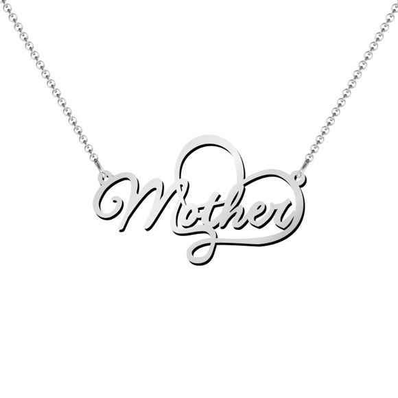 Picture of Mother Charm Necklace in 925 Sterling Silver