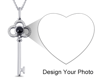 Picture of Custom Micro Engraved Photo Projection Key Necklace