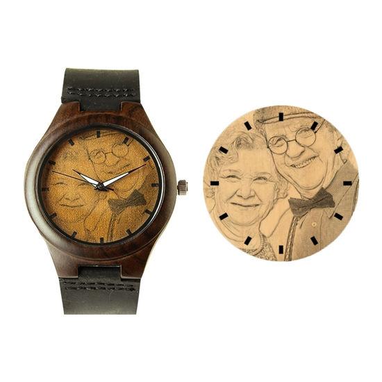 Imagen de Engraved Classic Wooden Photo Watch