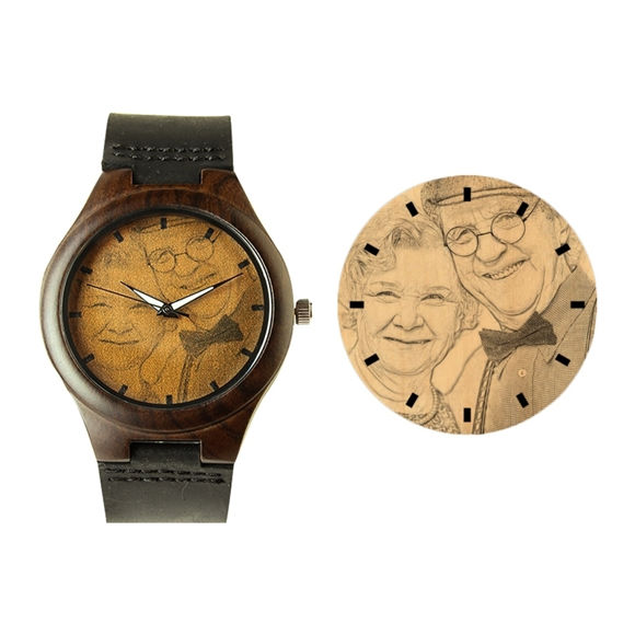 Picture of Engraved Classic Wooden Photo Watch