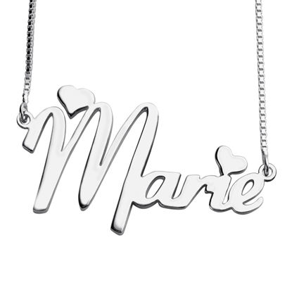 Imagen de Personalized Girl's Name Necklace in 925 Sterling Silver