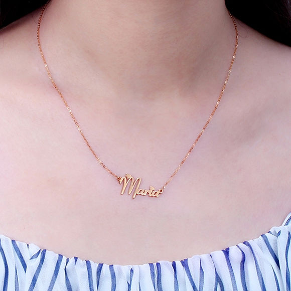 Picture of Personalized Girl's Name Necklace in 925 Sterling Silver