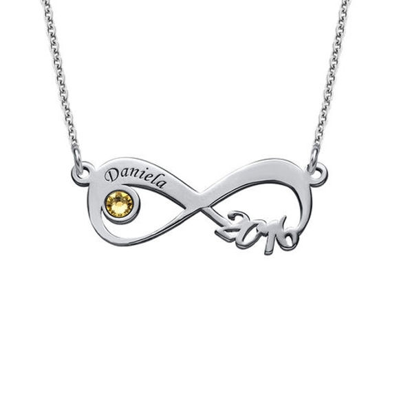 Picture of Graduation Class Necklace - Infinity Design