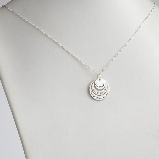 Immagine di Collana con cerchi di nidificazione in argento sterling