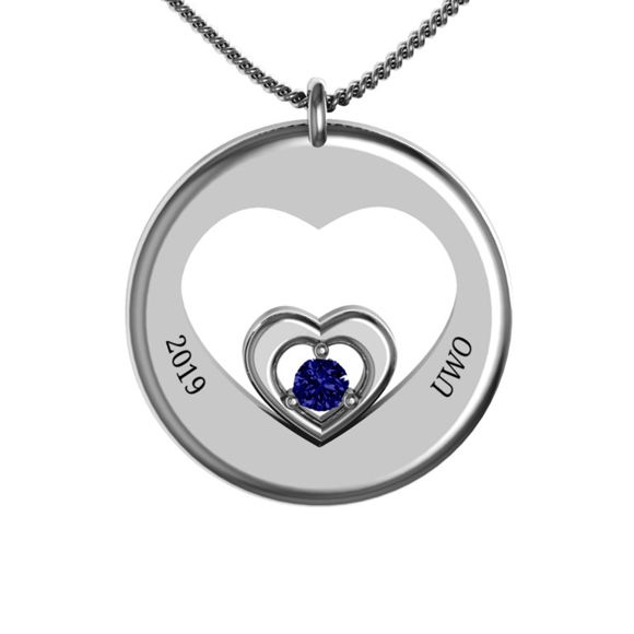 "Picture of ""Nexus"" Cut Out Heart Pendant"