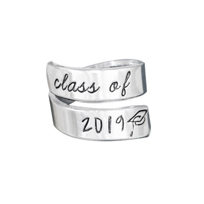 Picture of Class of 2019 Wrap Ring, Graduation Gift, Handmade Wrap Ring