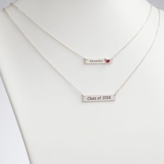 Imagen de Sterling Silver Layered Graduation Necklace