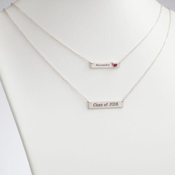 Imagen de Collar de graduación en capas de plata esterlina