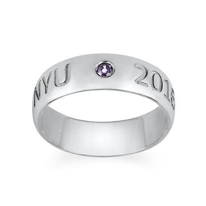 Picture of Graduation Ring with Personalized Birthstone