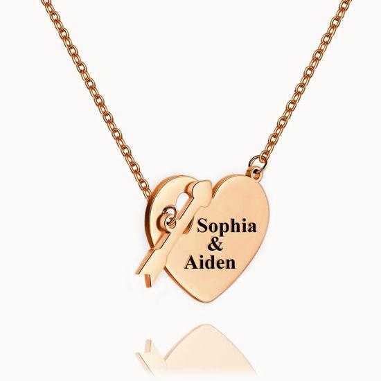 Imagen de Collar colgante con etiqueta grabada, chapado en oro de 14 k, plata