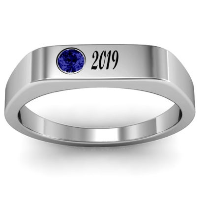 "Imagen de ""Soliloquy"" Stone and Name Graduation Ring"