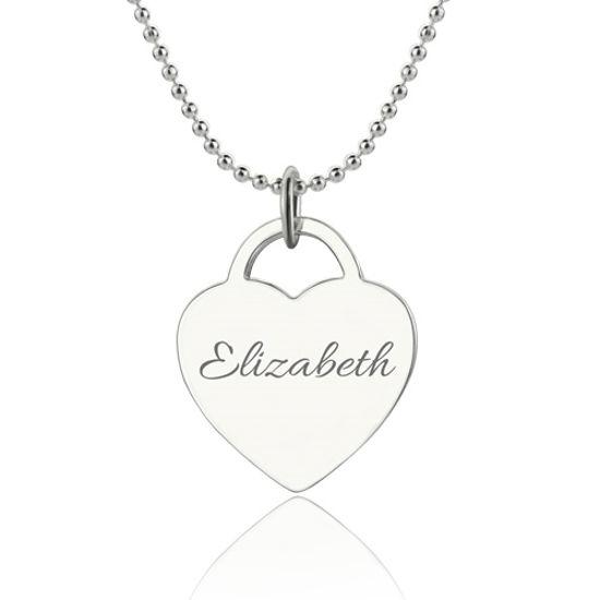 Imagen de Engraved Name Heart Class Of…Graduate Necklace 18k Gold Plated