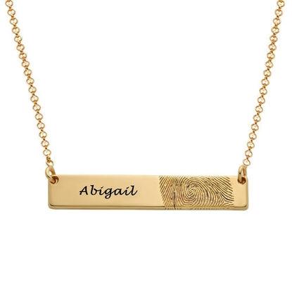 Imagen de Fingerprint Bar Necklace in Sterling Silver