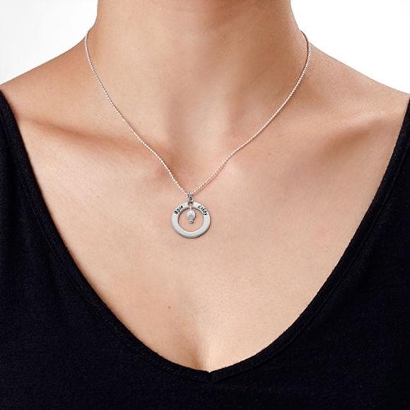 Imagen de Collar personalizado con doble corazón en plata de ley 925