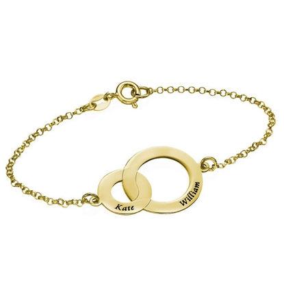 Image de Bracelet cercles entrelacés en argent sterling 925
