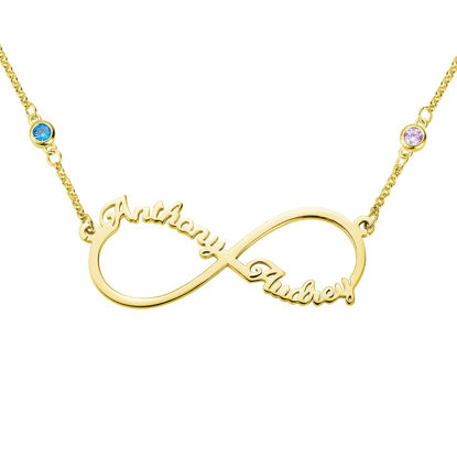Picture of Personalized Infinity Two Name Necklace