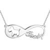 Picture of Dog Infinity Name Necklace 14K Gold Plated