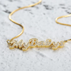 Picture of Personalized Name Neckalce Shining Zircon Stone Necklace