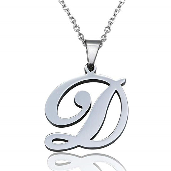 Picture of Initial Letters Pendant Necklace From A-Z