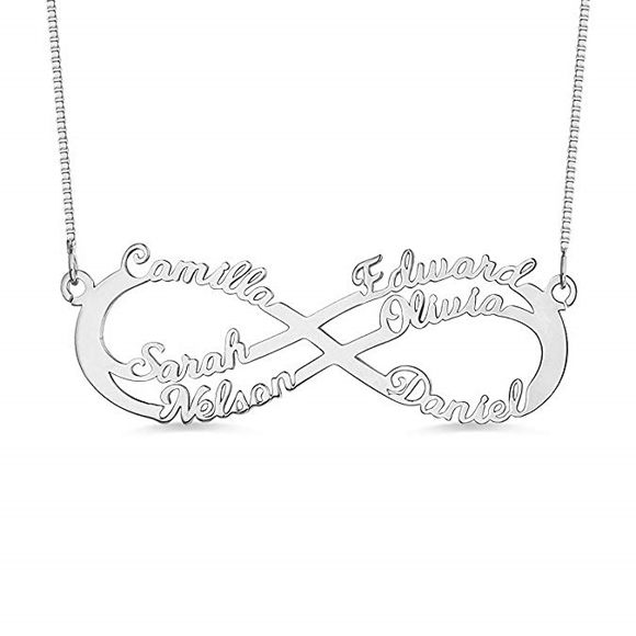 Picture of Infinity Sterling Silver Personalized Necklace  Made Any Name