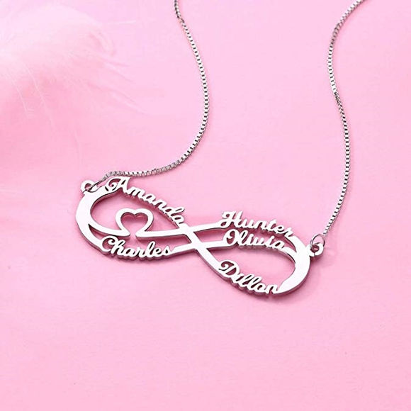 Picture of Personalized Infinity Sterling Silver Necklace