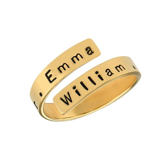 Picture of Engravable Ring Wrap in Sterling Silver