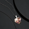 Picture of 925 Sterling Silver Photo Heart Tag Necklace Engraved Pendant